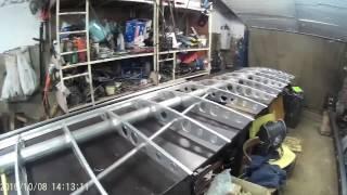 Споруда літака з полікарбонату (крило) 3 ч. Продовження роботи по виготовленню крила