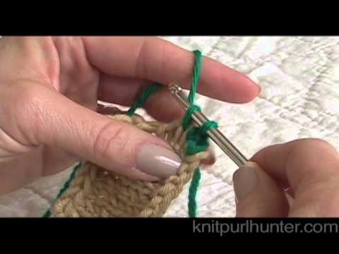 Crocheting Edges Of Knitting : Single Crochet Edge on Knitting - YouTube