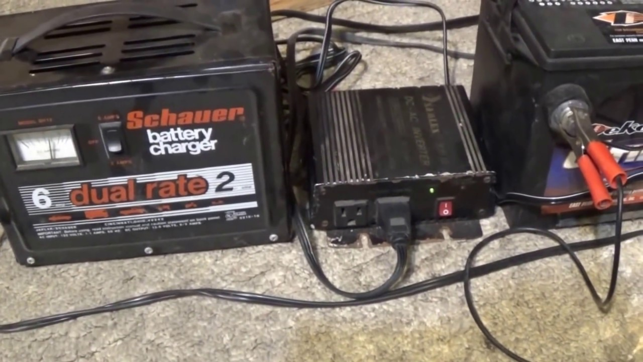 Free120v Electricity Using A Car Battery,Battery Charger