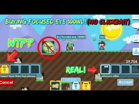 Buying FOCUSED EYES For 1DL, Dares 7/30 - Growtopia