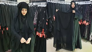 Latest Style Scarf Makna With Zip Two Big Layers Style Niqab