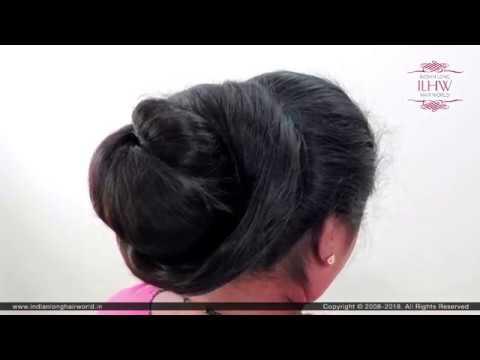 How To: Perfect Super Bun   Super Hair Bun Tutorial   Classic Monster Hair Bun  