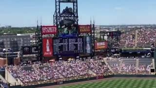 【MLB】クアーズ・フィールド (コロラド・ロッキーズ ) 試合中の雰囲気