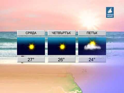 ТВ Черно море - Прогноза за времето 19.09.2017 г.