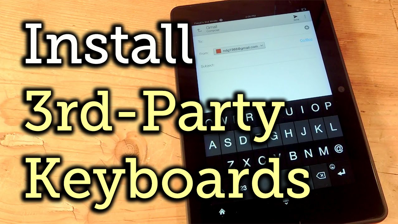 How to Install a Third-Party Keyboard on Your Amazon Kindle