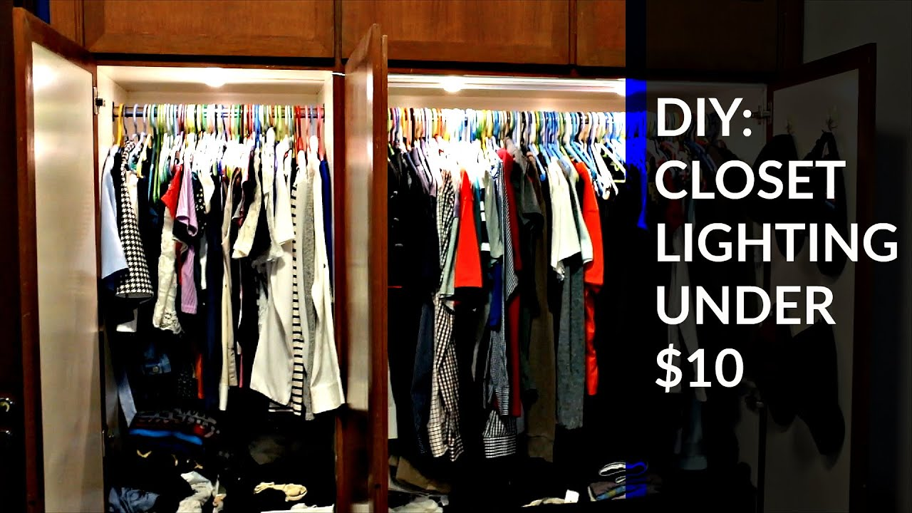 DIY: CLOSET LIGHTS - YouTube