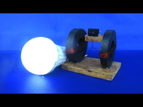 free-energy-electricity-magnets-with-light-bulbs---science-diy-project-at-school-2018