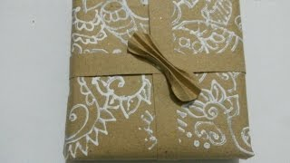 Make Your Own New Year Gift Wrapping Paper - Diy Crafts - Guidecentral