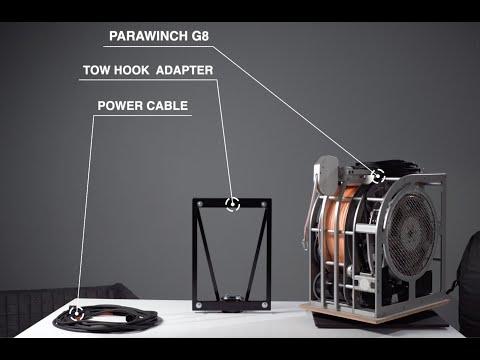 Paraglider towing winch setup Parawinch G8