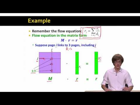 7. PageRank The Matrix Formulation | Stanford University