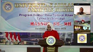 Masnur (Kajari Banggai) Raih Gelar Doktor Hukum di Universitas Airlangga