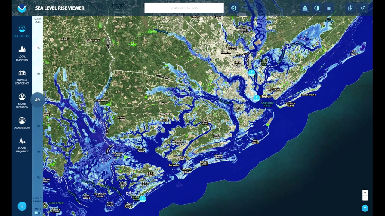 Lowcountry South Carolina Map.Sea Level Rise In The The South Carolina Lowcountry Youtube