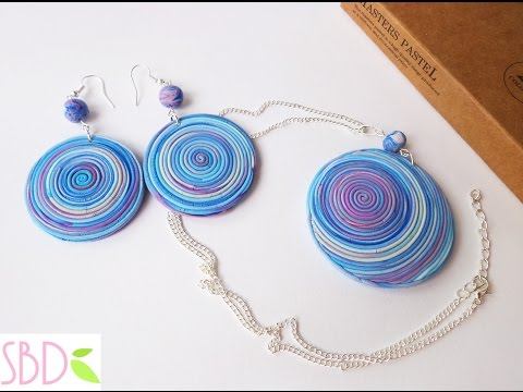 Gioielli fimo Spirale - DIY Fimo clay jewels Swirl