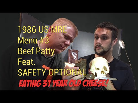 Vintage MRE Taste Test: 1986 Menu 3 Beef Patty -- Eating 31 Year Old Cheese (Feat. Safety Optional)