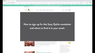 Newsletter Sign Up Tutorial