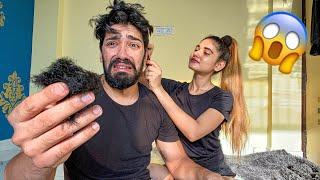 MY GIRLFRIEND DID MY HAIRCUT 😱 | ROHIT SONIYA VLOGS