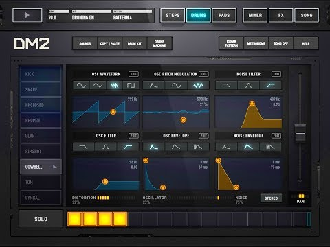 DM2 Drum Machine Now With A DRONE MACHINE Tutorial & Demo for the iPad