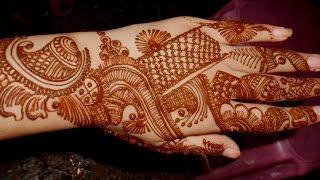 Full Hand Indian Arabic Eid Mehndi/Simple Mehendi Design For Festival :)