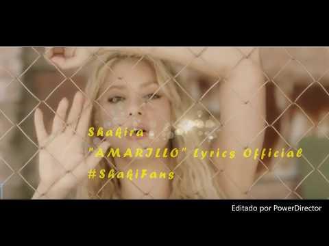 Shakira - Amarillo (Lyrics ) ShakiFans