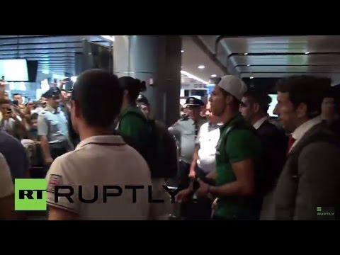 Armenia: Ronaldo Arrives In Yerevan Ahead Of Euro 2016 Qualifier