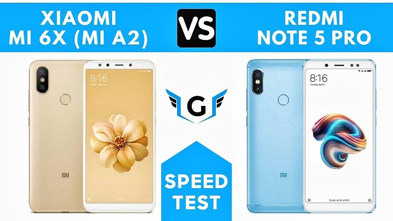 Xiaomi Mi X Mi A Vs Redmi Note  Pro Speed Test Comparison
