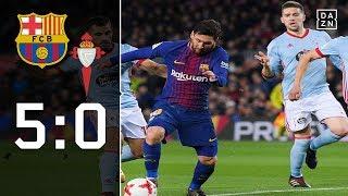 Lionel Messi dreht bei Barca-Sieg auf: Barcelona - Celta Vigo 5:0 | Highlights | Copa del Rey | DAZN