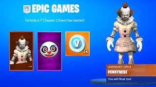 FORTNITE x IT CHAPTER 2 TRAILER with FREE REWARDS & CHALLENGES