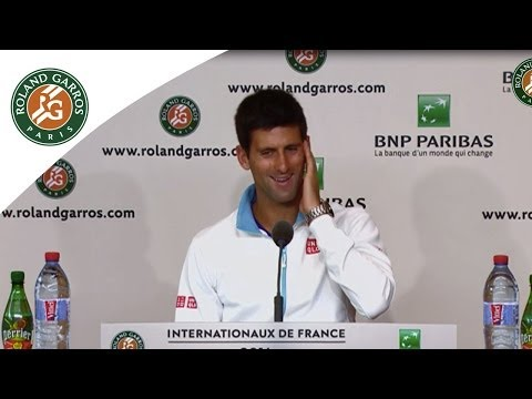 Press conference Novak Djokovic 2014 French Open R1