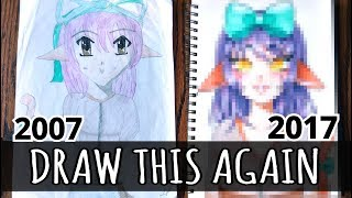 ☆ DRAW THIS AGAIN || My First Drawing! (10 Years of Improvement)☆