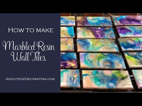 How to make marbled resin wall tiles
