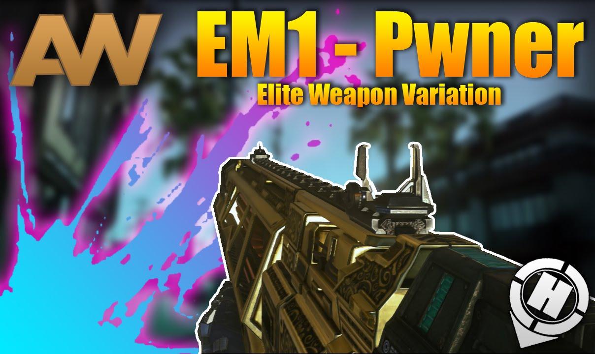 Advanced warfare multiplayer gameplay quot ffa quot em1 pwner elite weapon