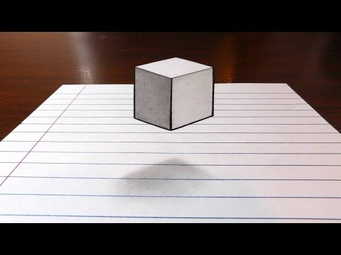 Floating Cube - 3D Trick Art on Paper