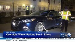 Chicago winter overnight parking ban in effect