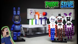 Five Nights at Freddy's Paper Pals Party Mcfarlane Toys Fnaf Withered Bonnie Lego Unboxing Playset