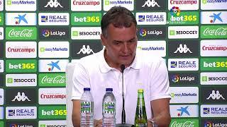 Rueda de prensa Real Betis vs Villarreal CF