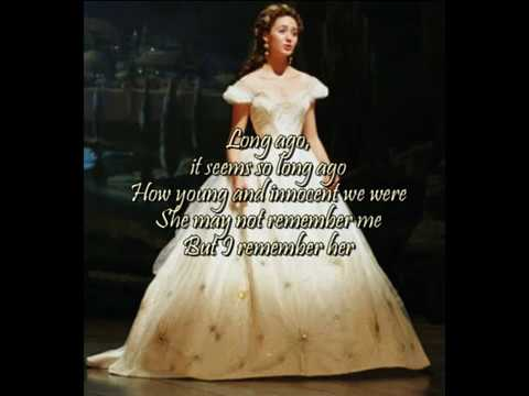 Think of Me From Phantom of the Opera- With Lyrics on Screen