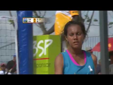 Pacific Games  2015  D11 BEACH VOLLEYBALL F G6 TAHITI vs GUAM