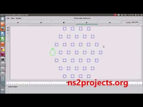 Id Based digital Signature using NS2 Simulation | NS2 Projects