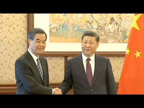 Chinese President Xi meets with HK and Macao Chief Executives