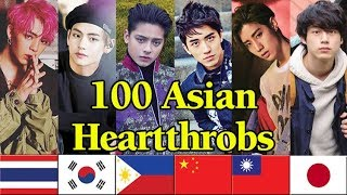 100 ASIAN HEARTTHROBS of 2018 - Complete Results