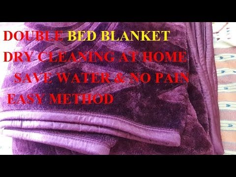 Double Bed Blanket  Dry CLEANING AT HOME / Blanket (Kambal) washing by Hand