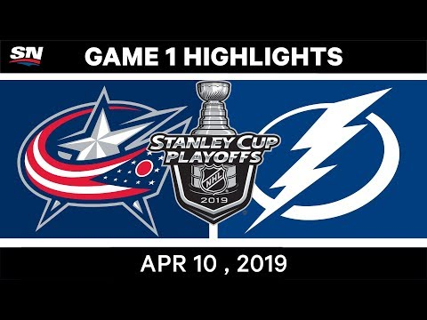 NHL Highlights | Columbus Blue Jackets vs Tampa Bay Lightning, Game 1 - April 10, 2019