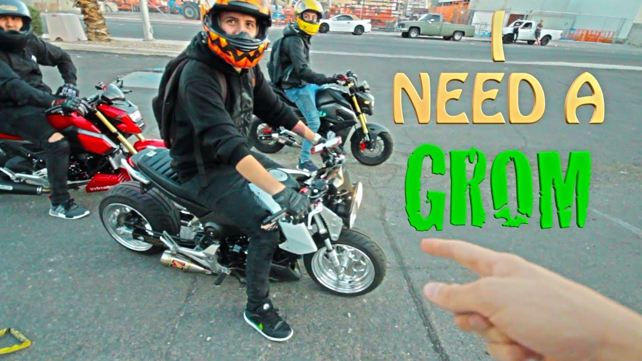 slammed cc honda grom group  fuku car meet grom squad youtube