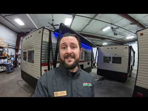 2019 Cherokee Grey Wolf 16 GR Fish House With Power Awning, RV Fridge, And Water!