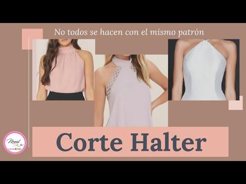 # 54 Corte Halter/🤔 Sabes Cuándo Se Hace Con Pinza Y Cuándo No? 😎 Aquí Te Enseño!