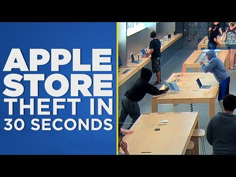 Apple Store theft in 30 seconds