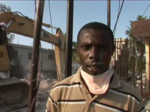 Haiti Earthquake: Cathedral, Port and Morgue footage