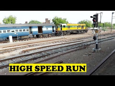 Longest Rajdhani  Kota Delhi Non Stop 458 KM High Speed Run