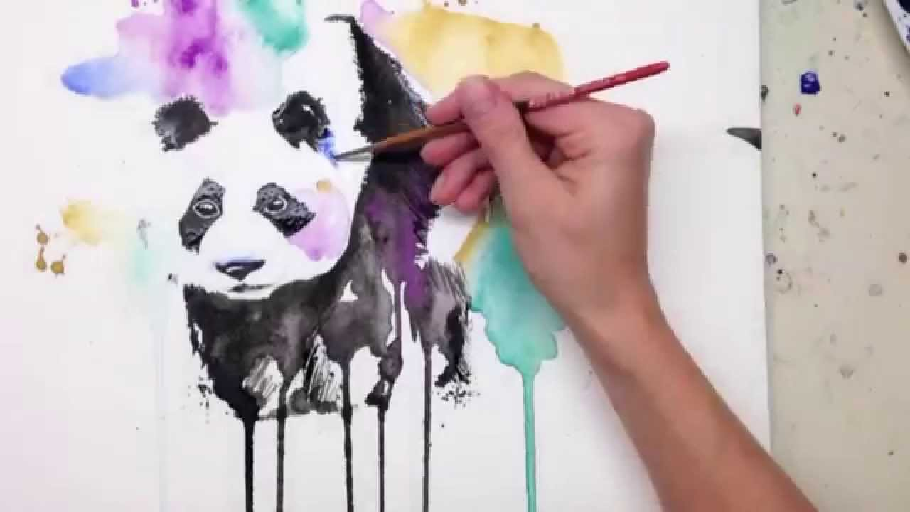 Panda Canvas Painting