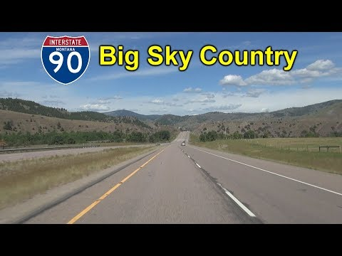 Interstate 90 in Montana: Big Sky Country